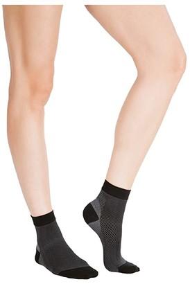 Belly Bandit Compression Ankle Sock (Black Grey) Women's Crew Cut Socks Shoes