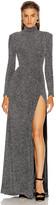 Jonathan Simkhai Glitter Jersey Draped Front Gown in Black | FWRD