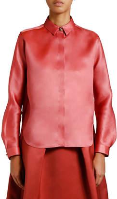 Giorgio Armani Silk Organza Button-Front Blouse