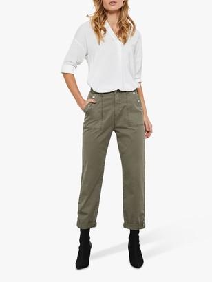 Mint Velvet Utility Chino Trousers, Khaki
