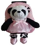 Infant Popatu 'Trolley - Ballet Panda' Rolling Backpack - Pink