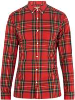 Burberry Point-collar checked cotton shirt