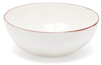 Feldspar - Painted-rim Fine China Bowl - Red White