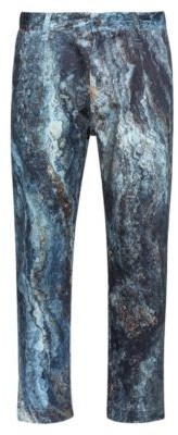 HUGO BOSS Relaxed-fit chinos with all-over marble print