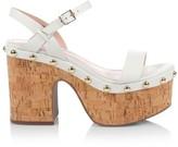 Schutz Celi Leather & Cork Platfrom Sandals