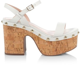 Schutz Celi Leather & Cork Platfrom Sandals