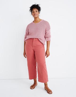 Madewell Petite Curvy Slim Emmett Wide-Leg Crop Pants