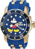Invicta Men's 'Disney Limited Edition' Quartz Stainless Steel and Silicone Casual Watch, Color: (Model: 23764)