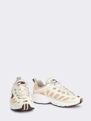 Tommy Hilfiger Heritage Leather Mix Trainers