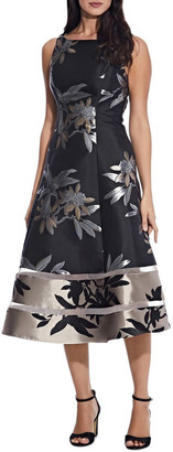 Adrianna Papell Short Jacquard Dress