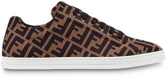 Fendi FF motif lace-up sneakers
