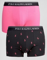 Polo Ralph Lauren 2 Pack Logo Stretch Cotton Trunks