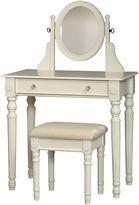 Linon Lorraine White Vanity Set