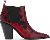 Sigerson Morrison Snake-effect Leather Ankle Boots