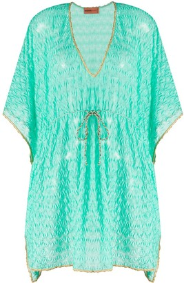 Missoni Mare V-neck tie waist cover-up