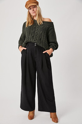 Pilcro And The Letterpress Pilcro Ultra High-Rise Pleated Wide-Leg Jeans By in Black Size 25