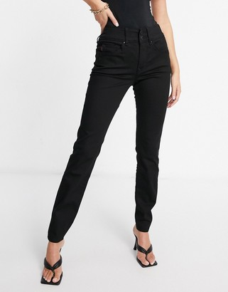 Salsa secret push in skinny jean in dark wash blue