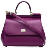 Dolce & Gabbana Purple Sicily Medium Leather Tote Bag