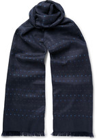 Paul Smith - Polka-dot Silk-twill Scarf