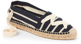 Bettye Muller Navy Session Lace-Up Canvas Espadrilles