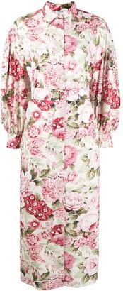 P.A.R.O.S.H. Floral-Print Puff Sleeve Dress