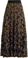 Altuzarra Vollotta sequin-embellished silk skirt