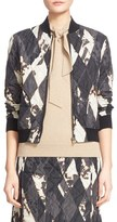 Tomas Maier Women's 'Shattered Lozenge' Print Quilted Bomber Jacket