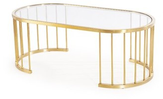 Blink Home Athens Coffee Table Color: Gold