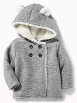 Old Navy Plush Hooded Critter Coat for Baby