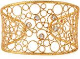 Roberto Coin Bollicine 18k Rose & White Gold Cuff w/ Diamonds, 0.11tcw