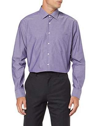 Seidensticker Men's Modern Fit Langarm mit Business Kent-Kragen Patch 3 BÃ1⁄4gelfrei Uni-100% Baumwolle Formal Shirt