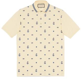 Gucci Symbols embroidered polo