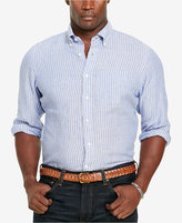 Polo Ralph Lauren Men's Big & Tall Striped Linen Sport Shirt