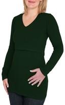 Women's Nurture-Elle Long Sleeve Nursing Maternity Tee