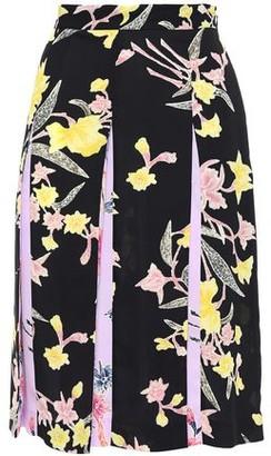 Diane von Furstenberg Opal Pleated Floral-print Crepe De Chine Skirt