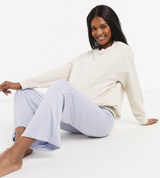 ASOS DESIGN Maternity mix & match soft pajama pants with elastic waistband in blue