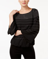 Alfani Petite Embellished Blouson Top, Only at Macy's