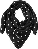 Saint Laurent Polka Dot Silk Twill Scarf