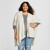 Mossimo Women's Plus Size Poncho Sweater Beige One Size Juniors')