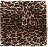 Saint Laurent leopard print scarf - women - Silk/Cashmere - One Size