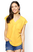 New York & Co. Soho Soft Shirt - One-Pocket Short Sleeve