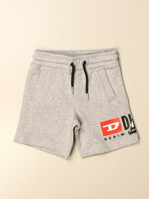 Diesel Jogging Shorts In Cotton With Logo