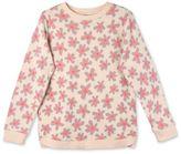 Stella McCartney pink graphic flowers claire sweatshirt