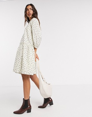 Y.A.S smock shirt dress in ditsy floral print
