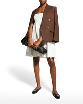 Thumbnail for your product : Rebecca Taylor Sleeveless Empire-Waist Cotton Dress