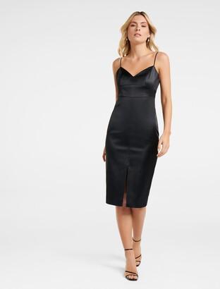 Forever New Montana Split Tube Dress - Black - 4