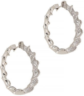 Fallon Helix Pave crystal-embellished hoops