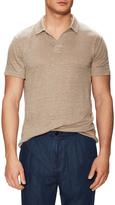 Vince Linen Spread Collar Jersey Polo