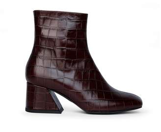 Unreal Fields Doric - Brown Leather Square Toe Boots