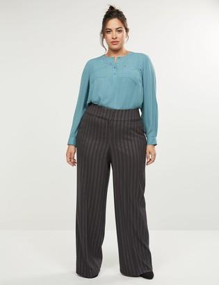 Lane Bryant Allie Tailored Stretch Wide Leg Pant - Shimmer Stripe